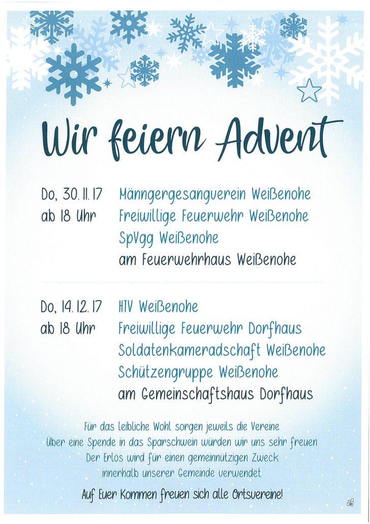 Adventsfeier